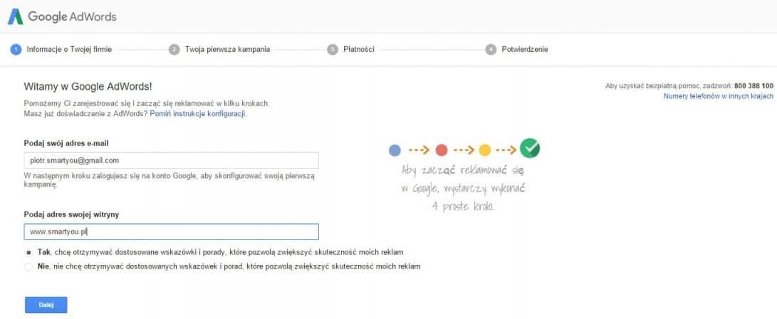 Tworzenie konta Google