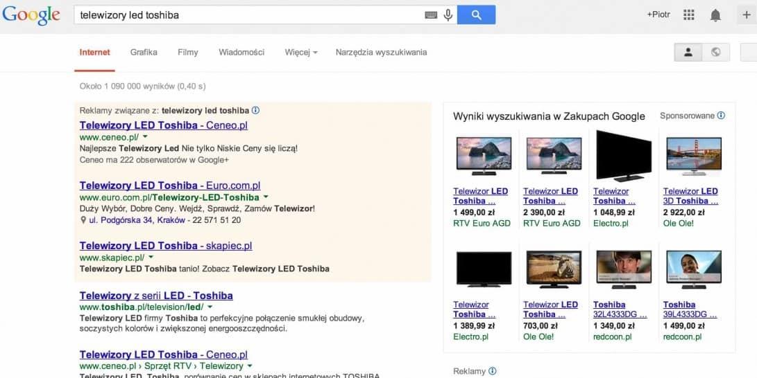 google shopping wyglad