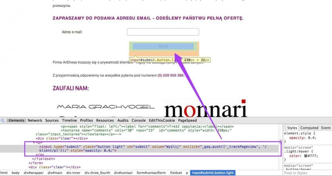 virtual pageviews przykład zastosowania