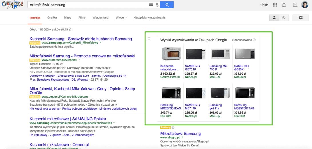 zakupy google AdWords