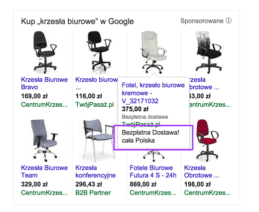 Zakupy Google promo tekst