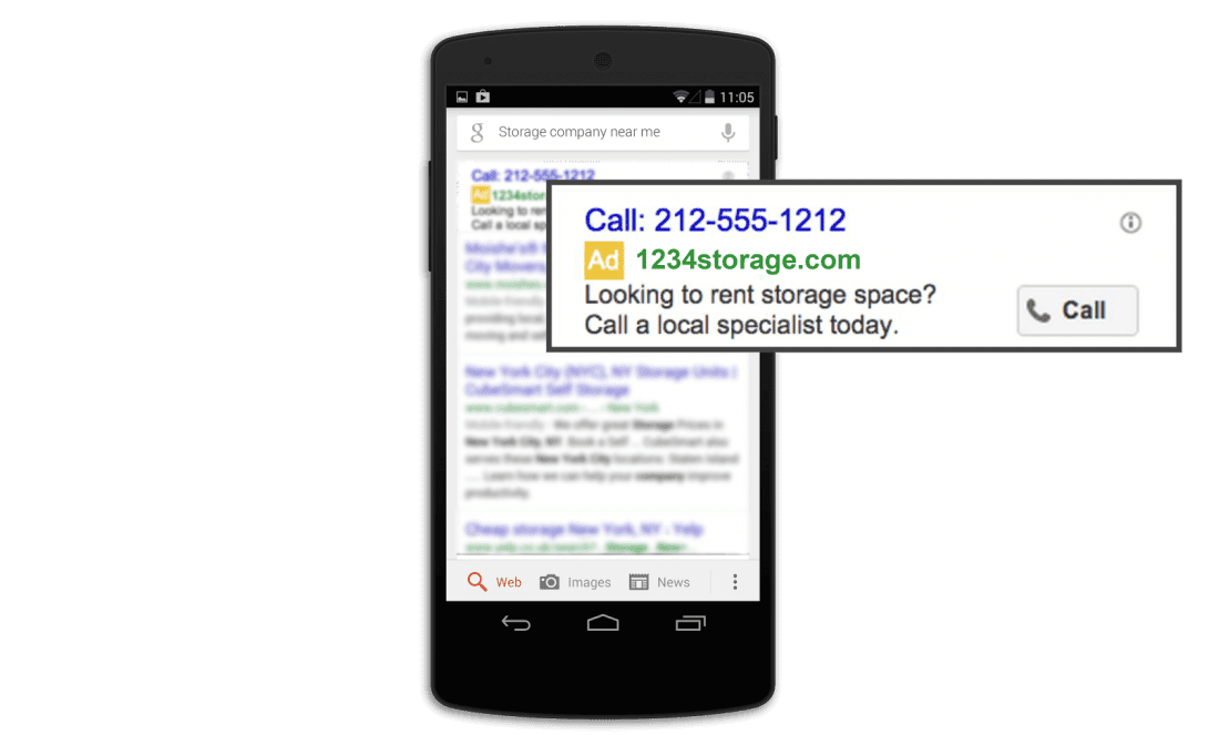 call only google adwords