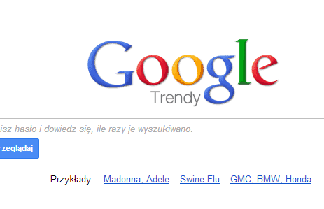 Nowy Google Trends