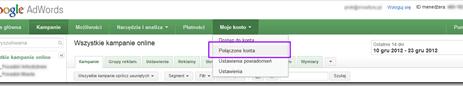 Dane z Google Analytics w Interfejsie Google AdWords