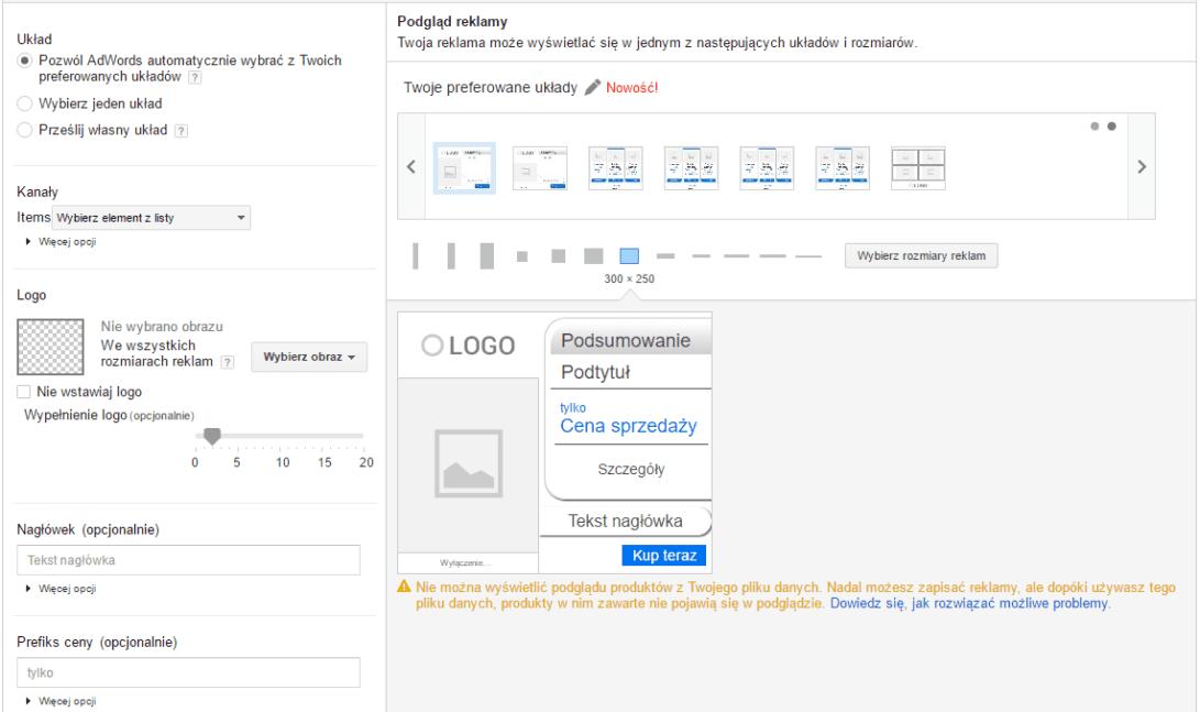 narzędzie do tworzenia reklam graficznych AdWords