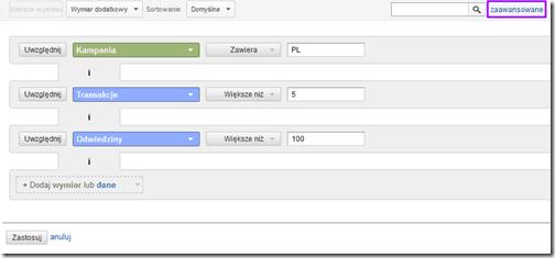 wyszukiwanie w google analytics